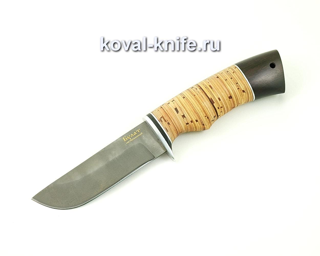 Нож из булатной стали Пегас (Легированный булат, рукоять береста и граб) A479