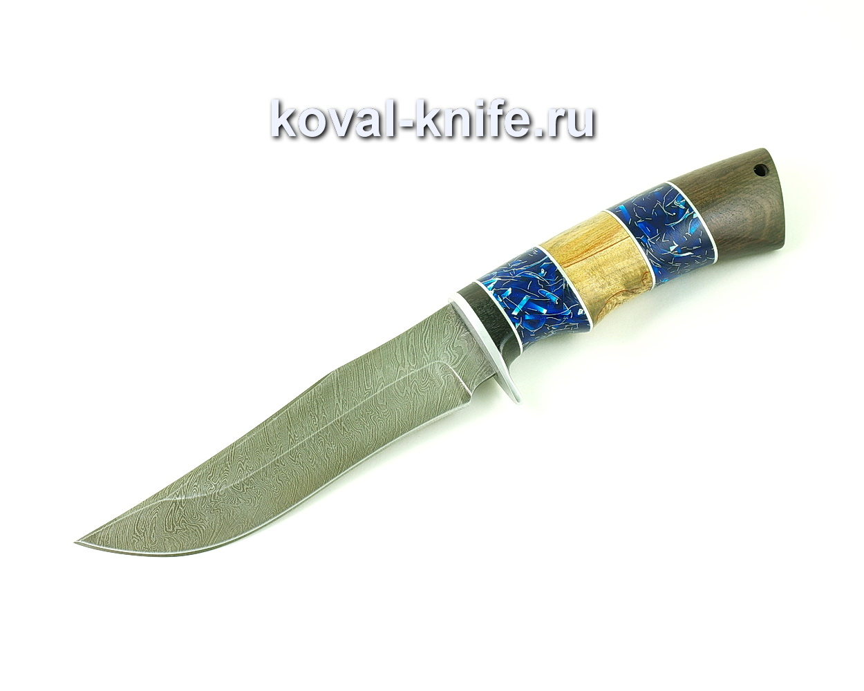 Нож из дамасской стали Пират (рукоять композит, карелка, венге) A487
