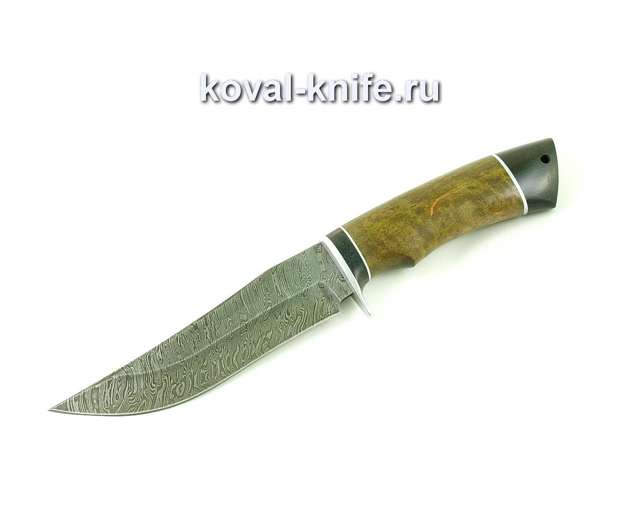 Нож из дамасской стали Клыч (рукоять стабилизированная карельская береза и граб) A496