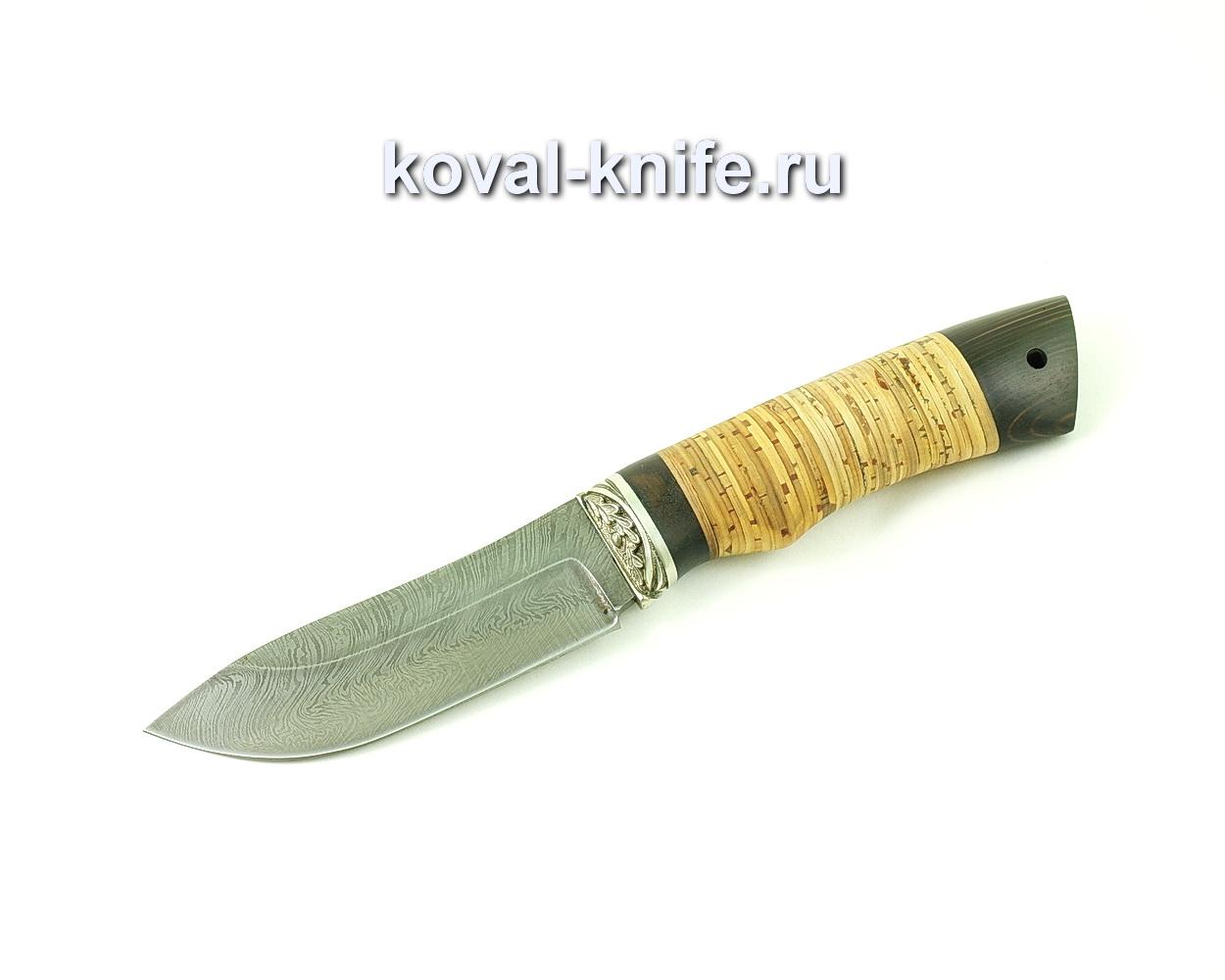 Нож из дамасской стали Кабан (рукоять береста и венге) A488