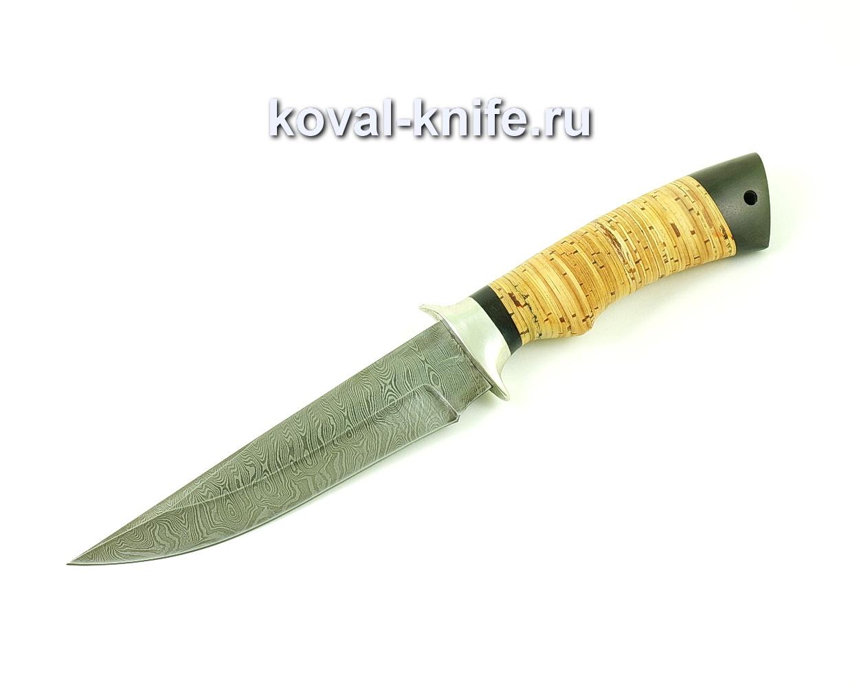 Нож из дамасской стали Лис (рукоять береста и граб) A490