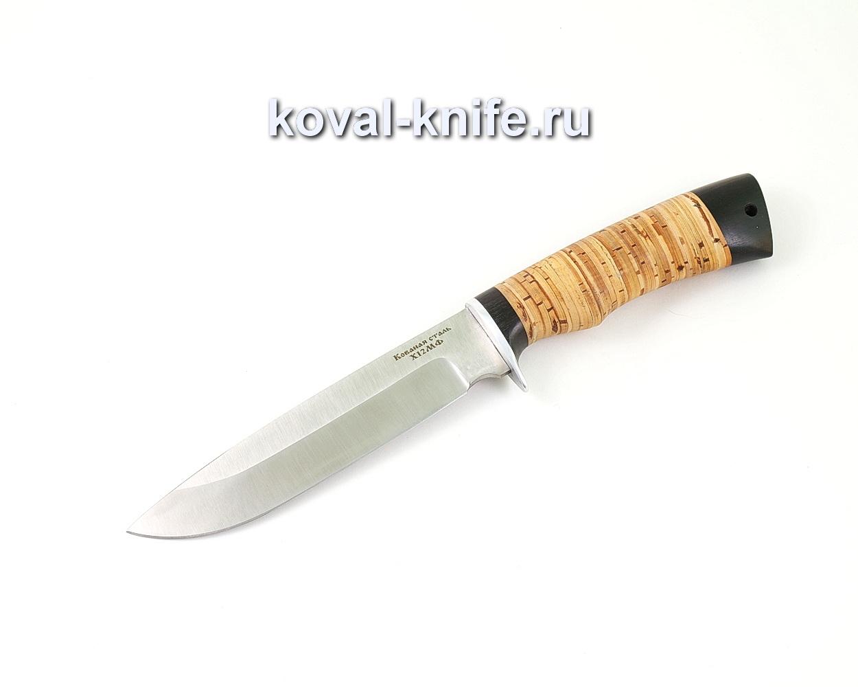 Нож из кованой стали Х12МФ Турист (рукоять береста и граб) A499