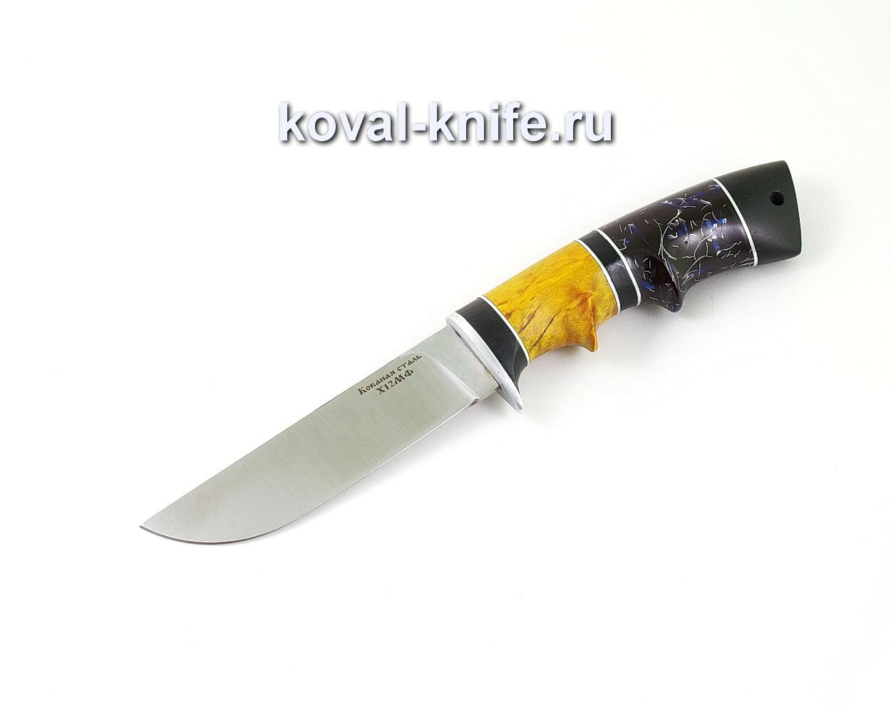 Нож из кованой стали Х12МФ Белка (рукоять стабилизированная карельская береза, граб и композит) A502
