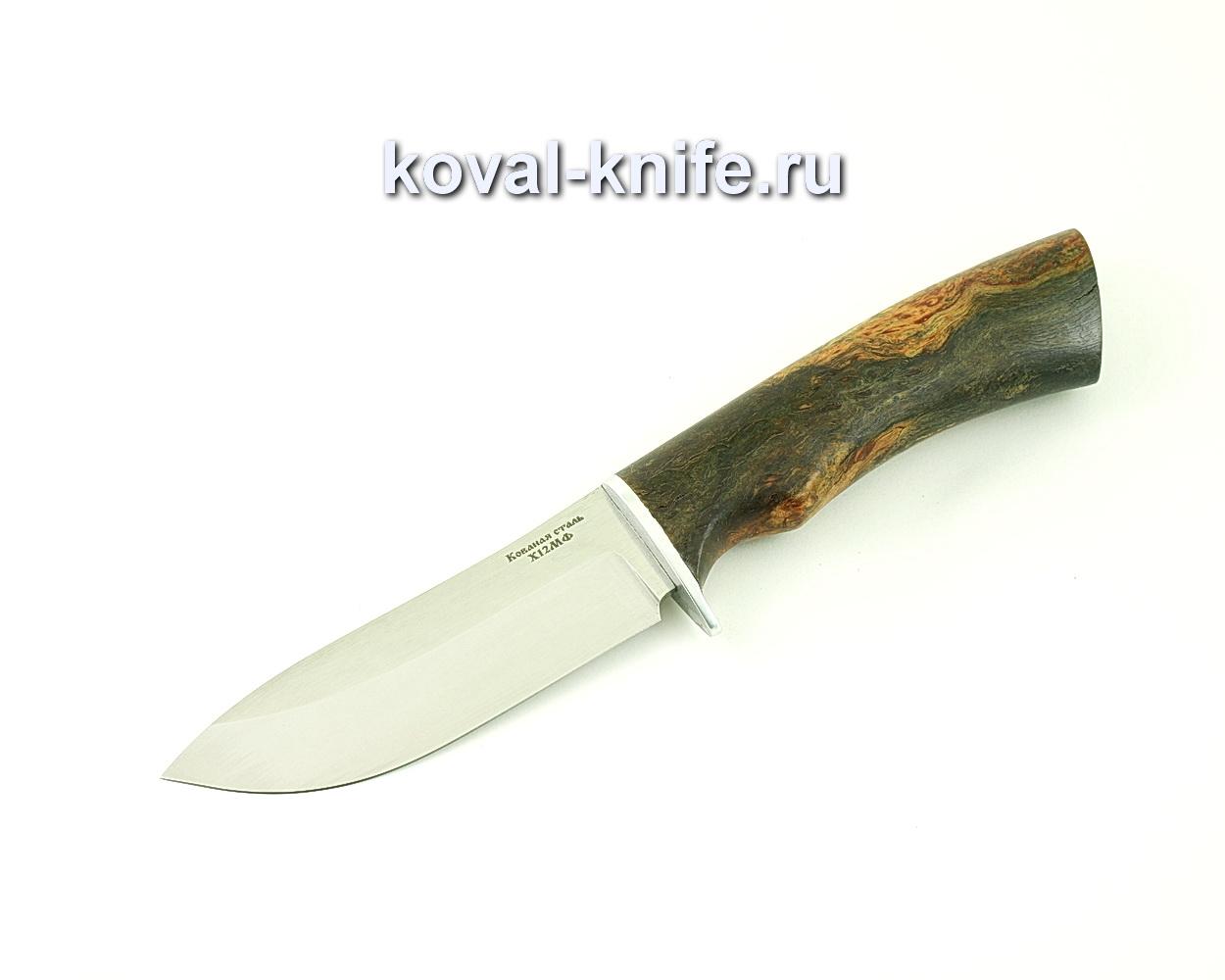 Нож из кованой стали Х12 Кабан (рукоять стабилизированная карельская береза) A505