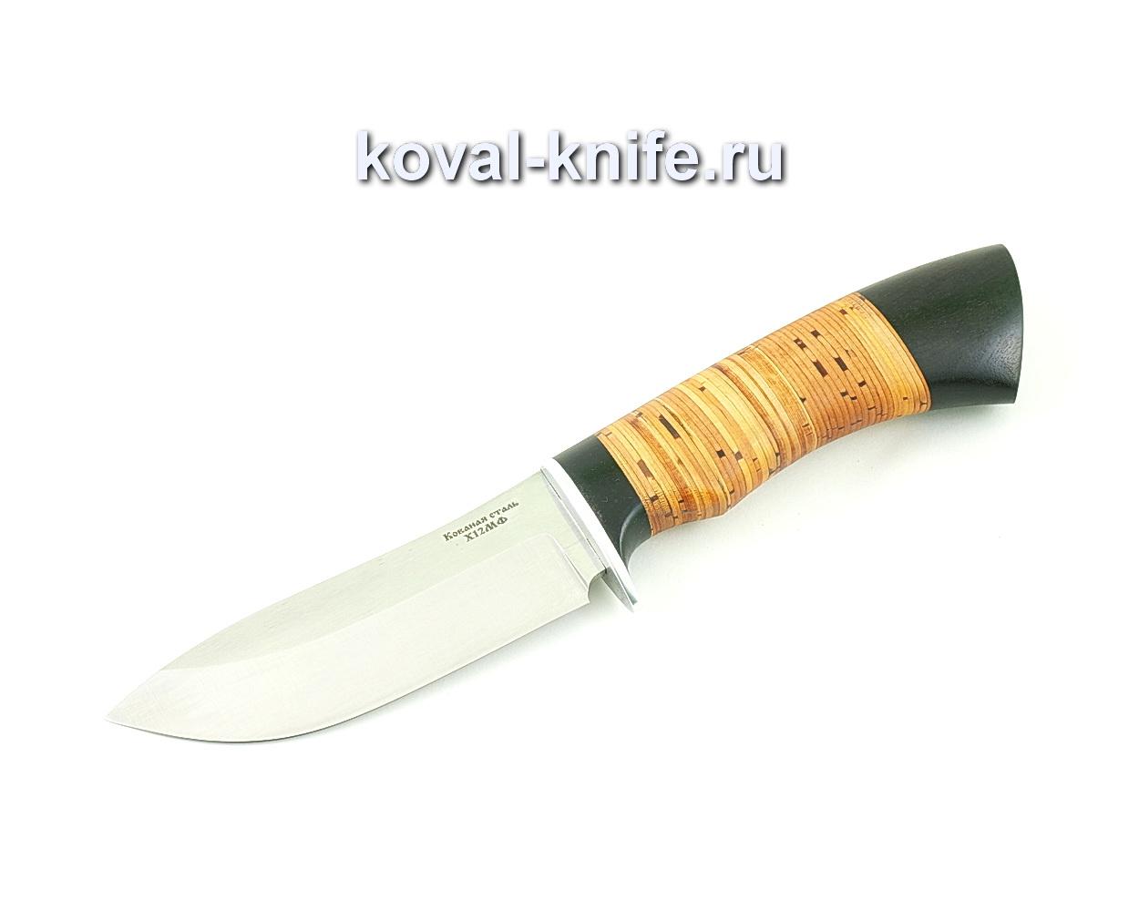 Нож из кованой стали Х12 Кабан (рукоять береста и граб) A506
