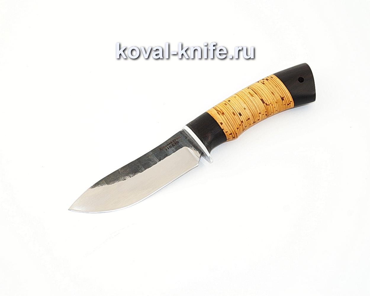 Нож Кабан из кованой стали 110Х18 с рукоятью из бересты и граба A585
