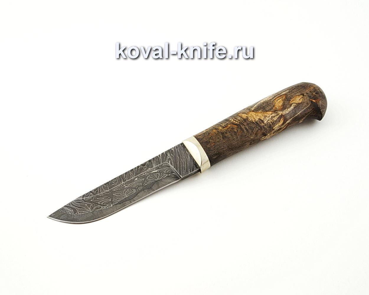 Нож Белка из ламинированной стали (рукоять стабилизированная карельская береза) A518