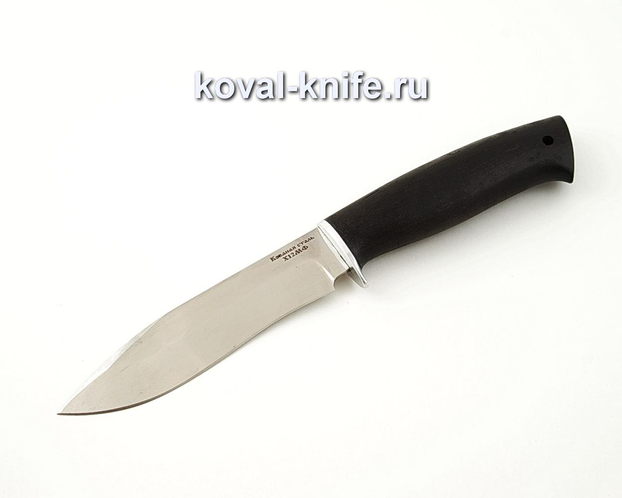 Нож Орлан из кованой стали Х12МФ с рукоятью из черного граба A535