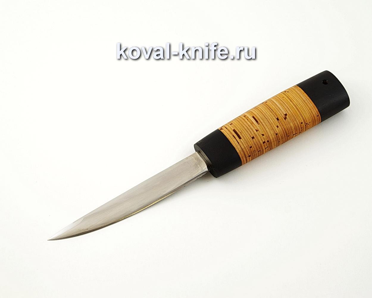 Якутский нож малый из кованой стали 110Х18 с рукоятью из бересты и черного граба A538