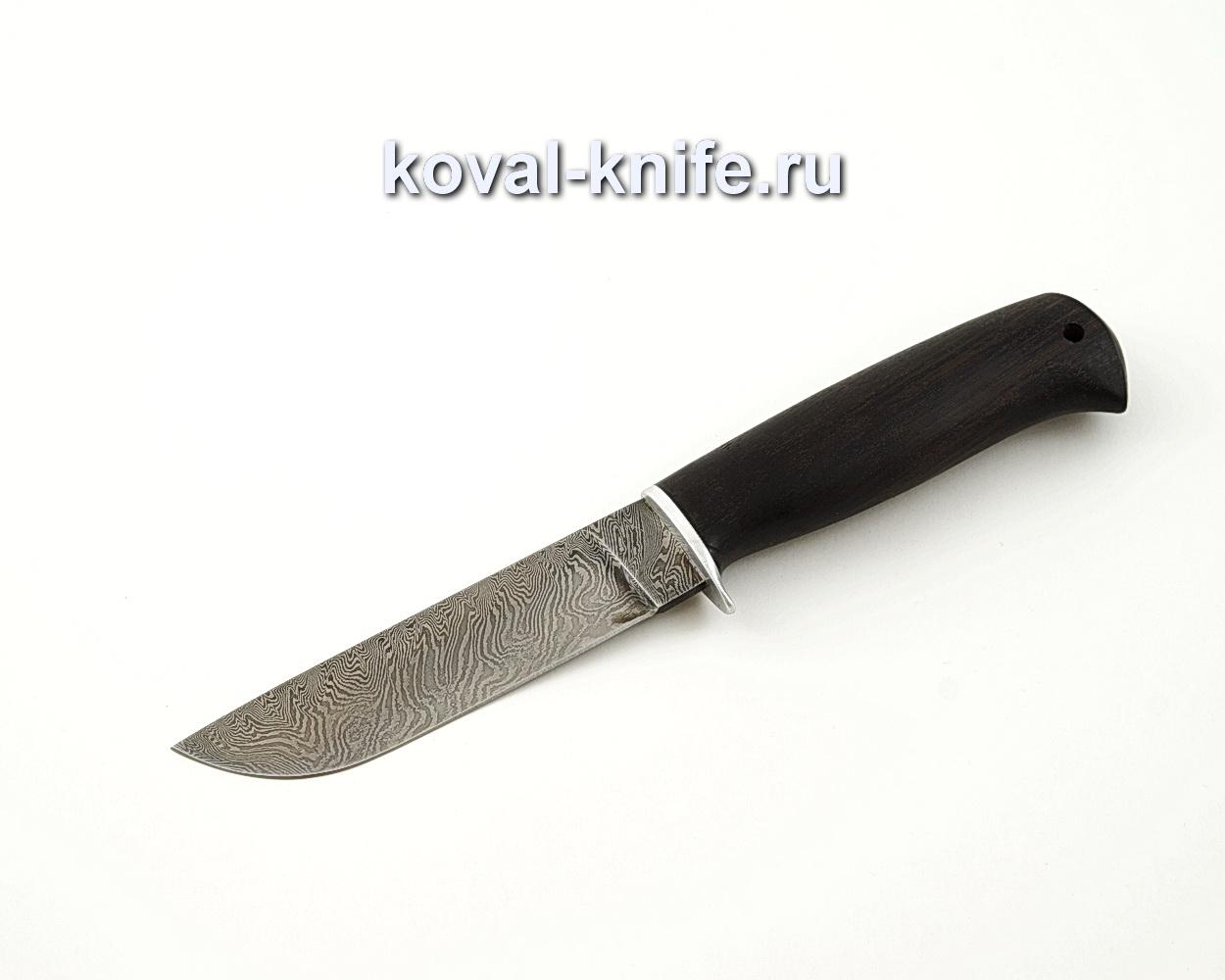 Нож Белка из дамасской стали с рукоятью из черного граба A545