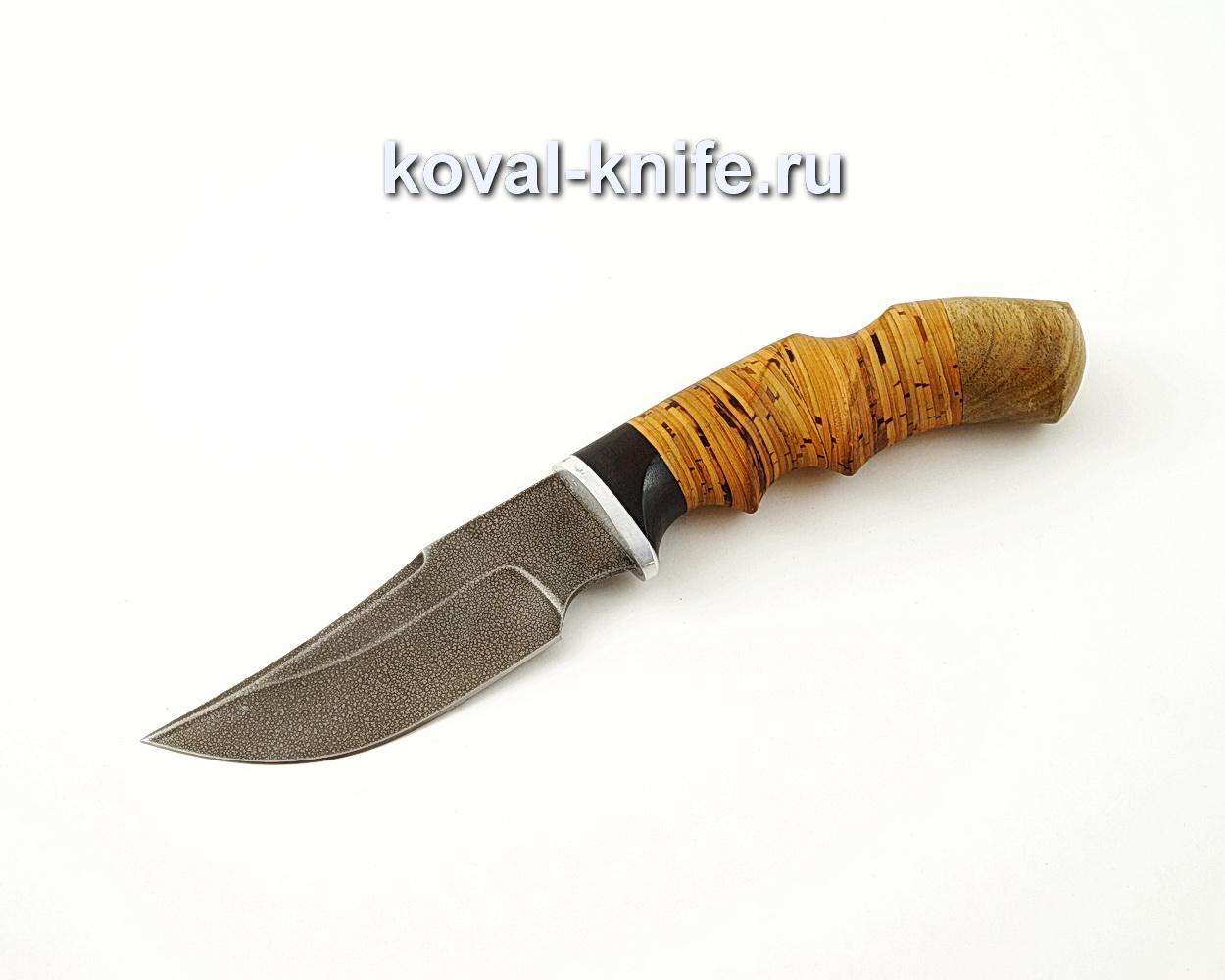 Нож Бекас из алмазной стали ХВ5 с анатомической рукоятью из бересты A547