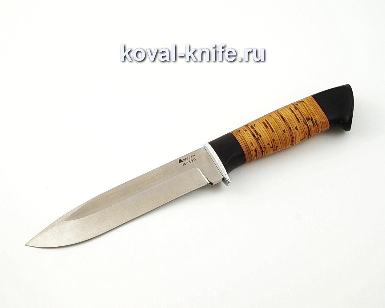 Нож Олимп из порошковой стали М390 с рукоятью из бересты и граба A562