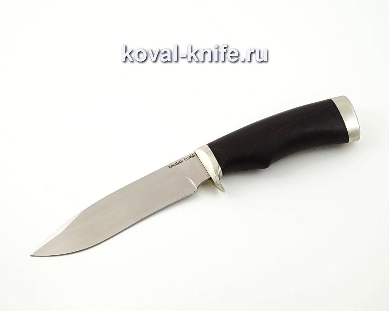 Нож Орлан из кованой стали Х12МФ с рукоятью из черного граба A563