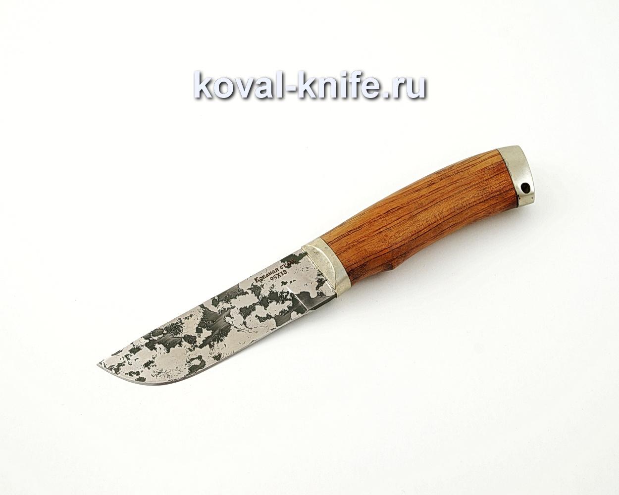 Нож Пегас из кованой стали 95х18 с рукоятью из бубинги, литье мельхиор A568