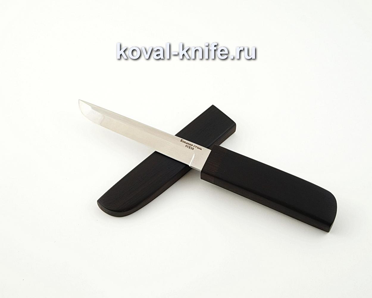Нож Кобун из кованой стали 95х18 в деревянных ножнах из граба A594
