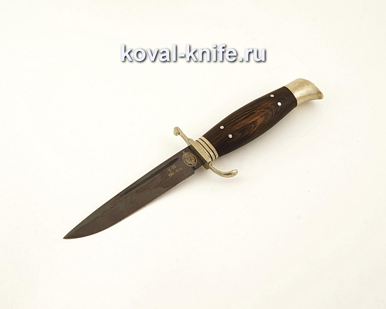 Нож финка НКВД из кованой стали У10 с рукоятью из венге  A620