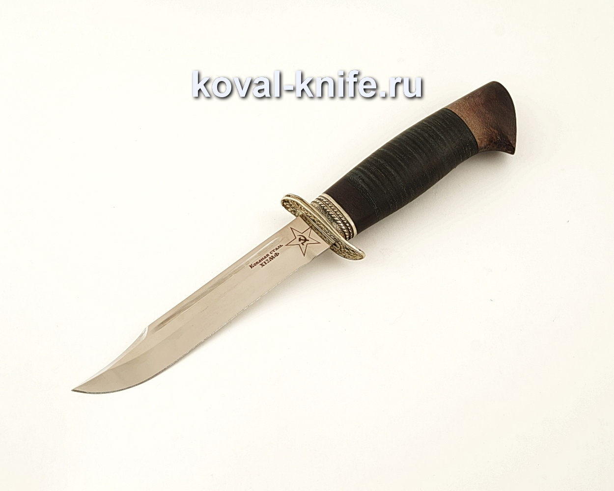 Нож Штрафбат — реплика ножа НР40 из кованой стали Х12МФ с рукоятью из кожи  A623