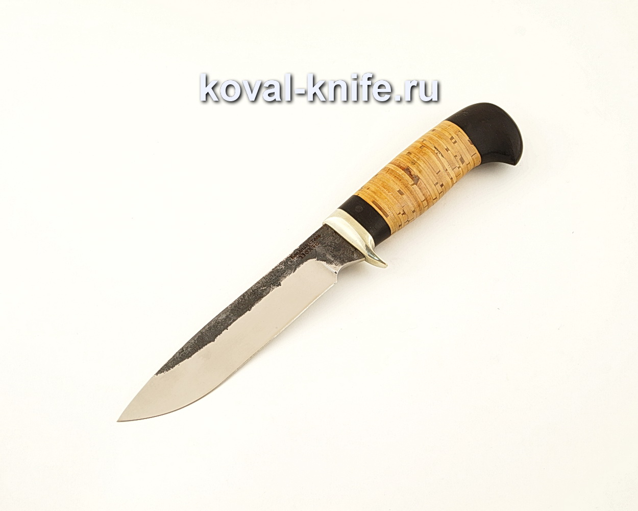 Нож Турист из кованой стали 110Х18 с рукоятью из бересты и граба  A625