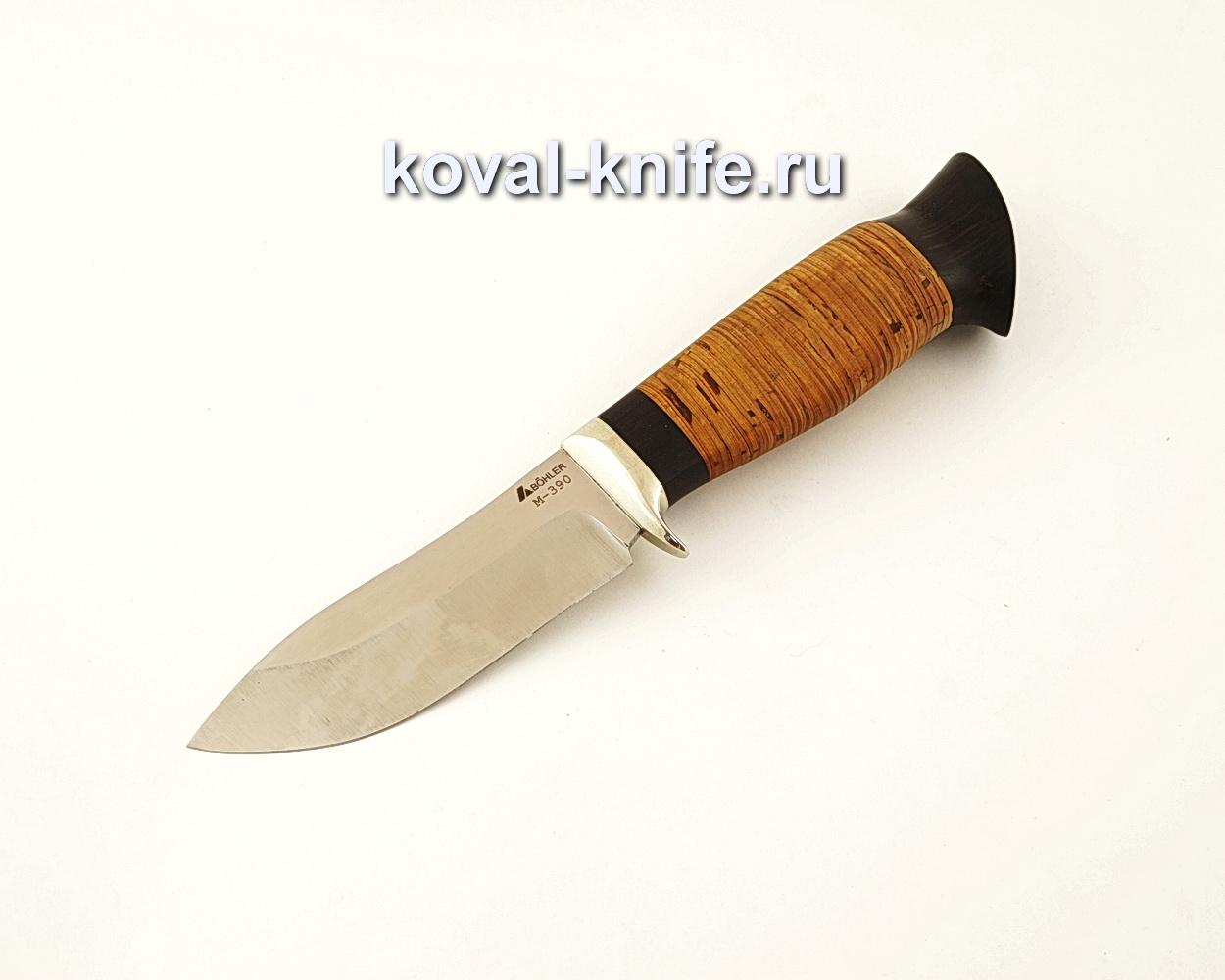 Нож Кабан из порошковой стали М390 с рукоятью из бересты  A627