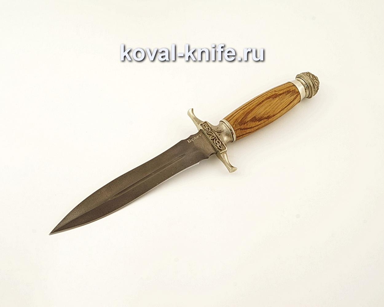 Нож Кардинал из булатной стали с рукоятью из зебрано  A611
