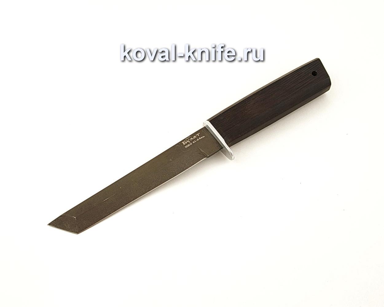 Нож Кобун из булатной стали с рукоятью из граба  A634
