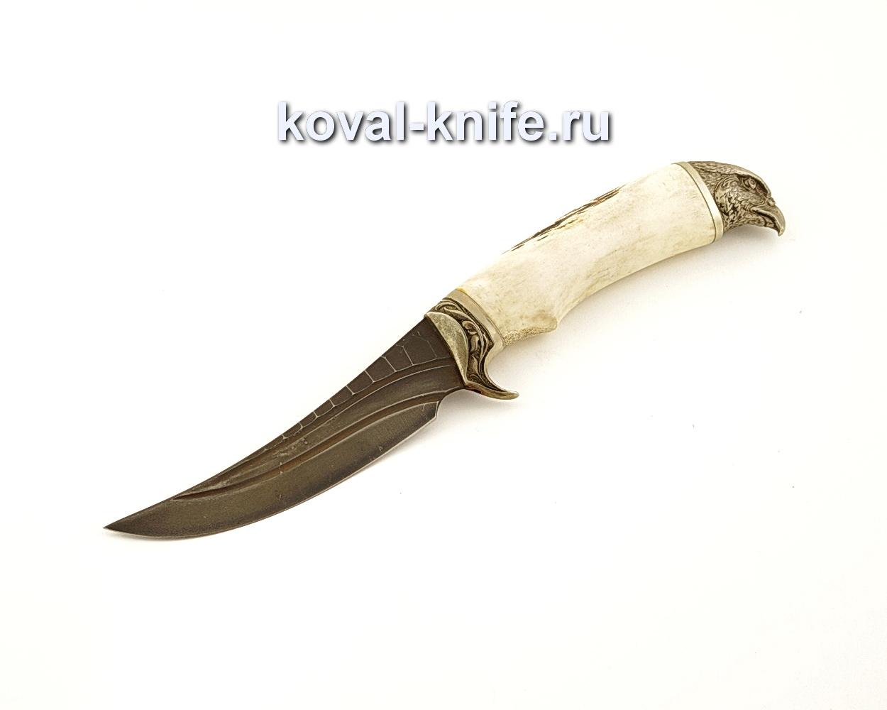 Нож Ворон из кованой стали Х12МФ с рукоятью из рога  A635