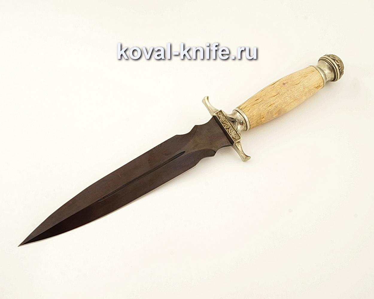 Нож Святогор из кованой стали У10А с рукоятью из карельской березы  A612