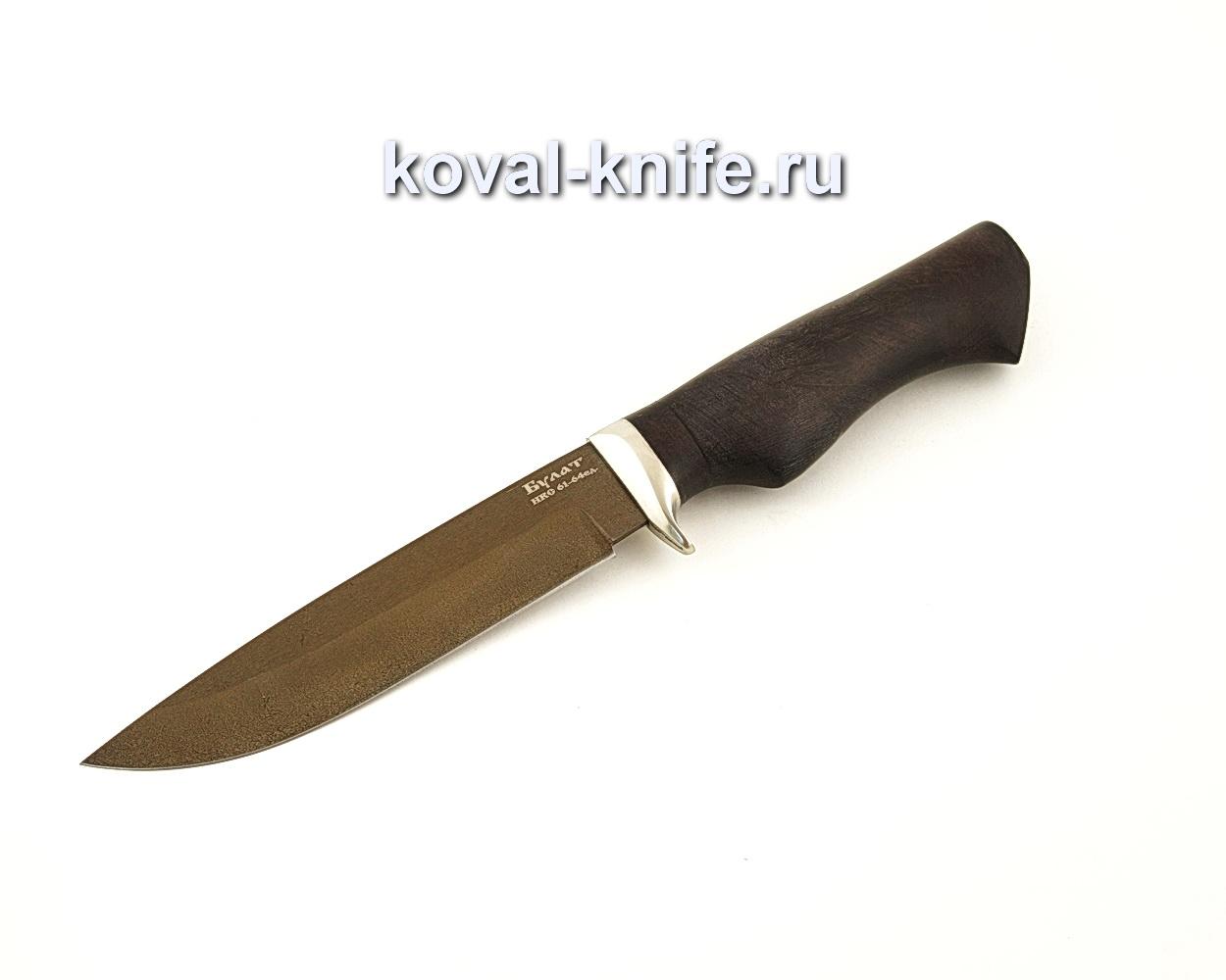 Нож Турист из булатной стали с рукоятью из Граба  A662
