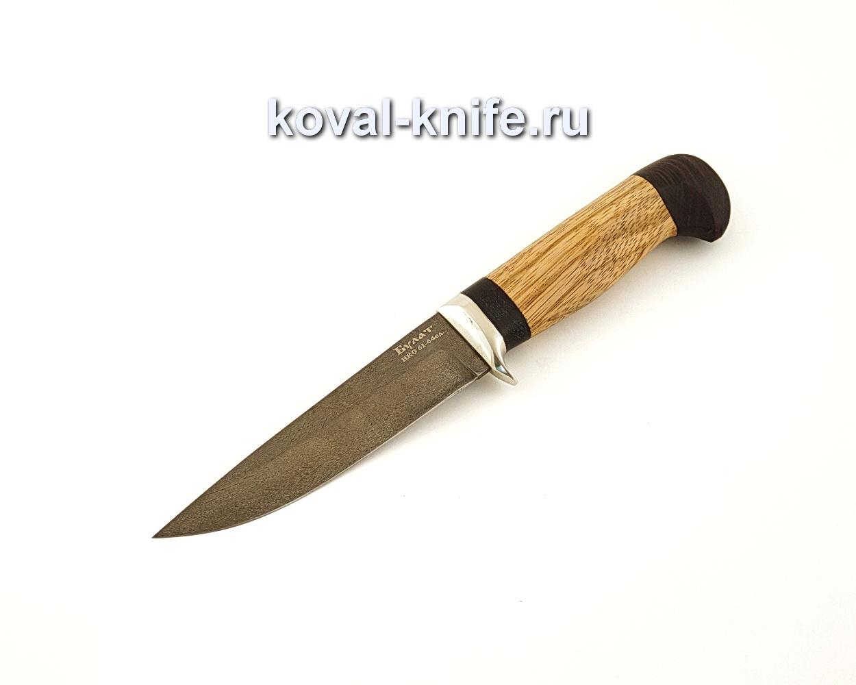 Нож Лис из булатной стали с рукоятью из амазакуе  A647