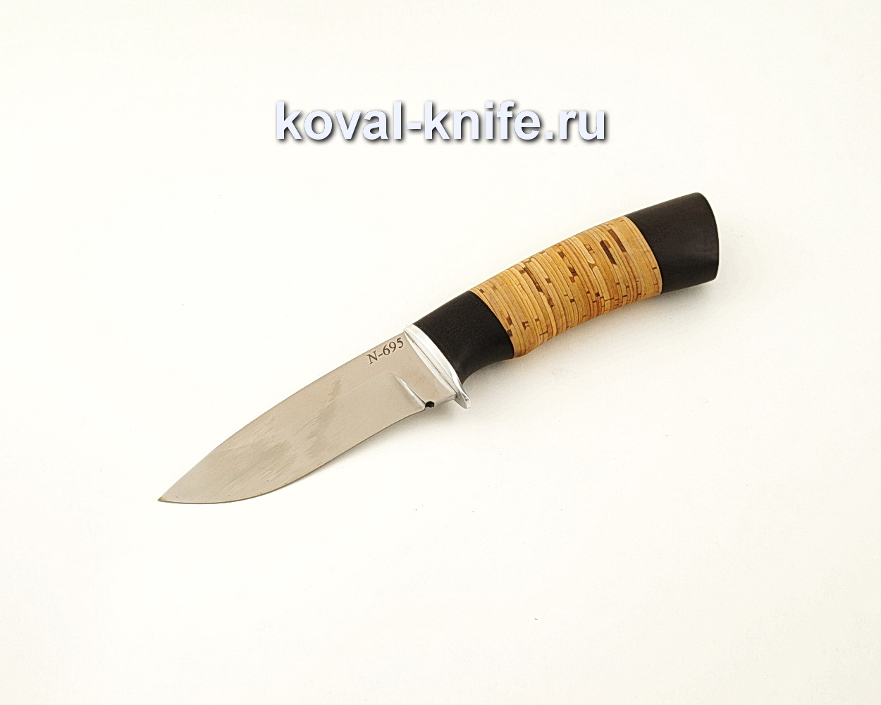 Нож Сапсан из нержавеющей стали Bohler N695 с рукоятью из бересты  A649
