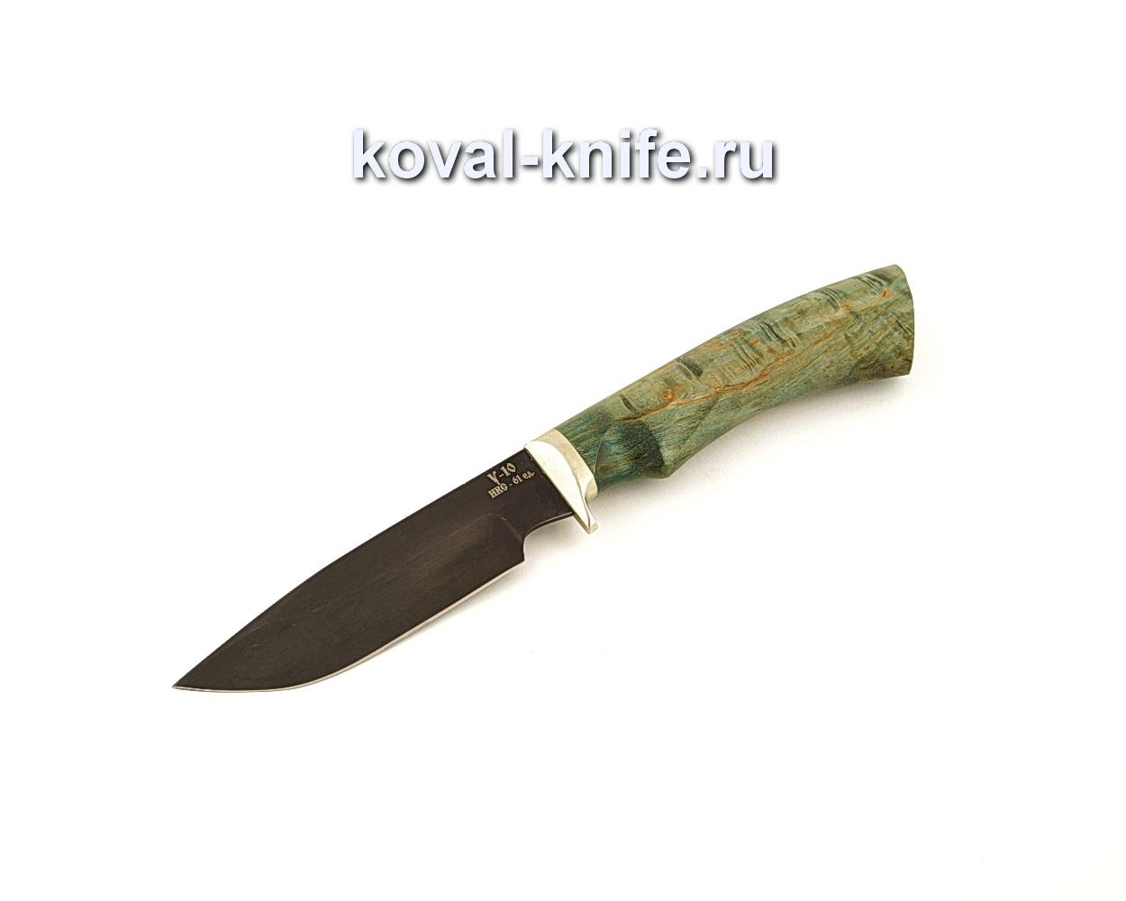 Нож Бигзод-мини из кованой стали У10 с рукоятью из стабилизированной карельской березы  A655