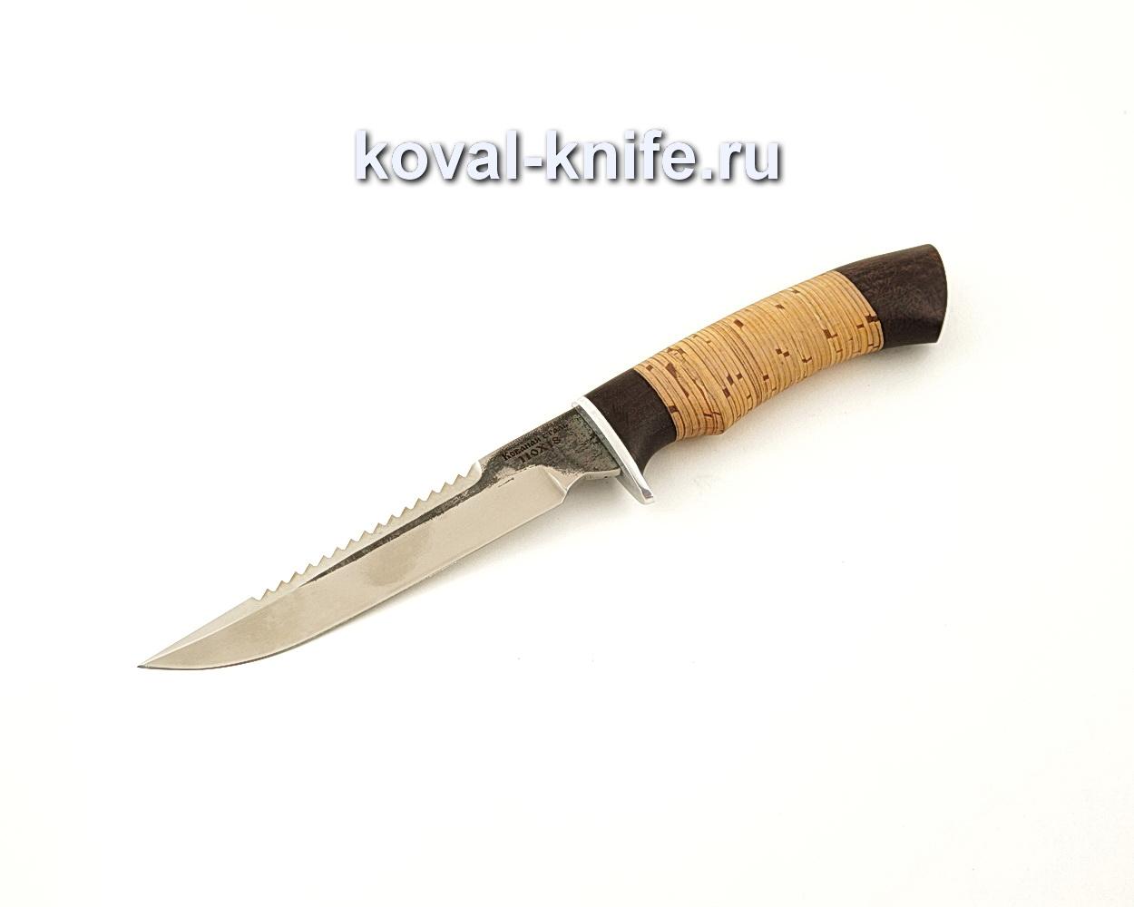 Нож Рыбак из кованой стали 110Х18 с рукоятью из бересты  A659