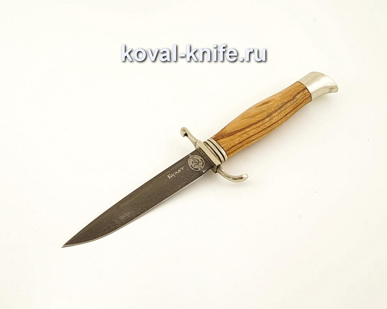Нож финка НКВД из булатной стали с рукоятью из зебрано  A616