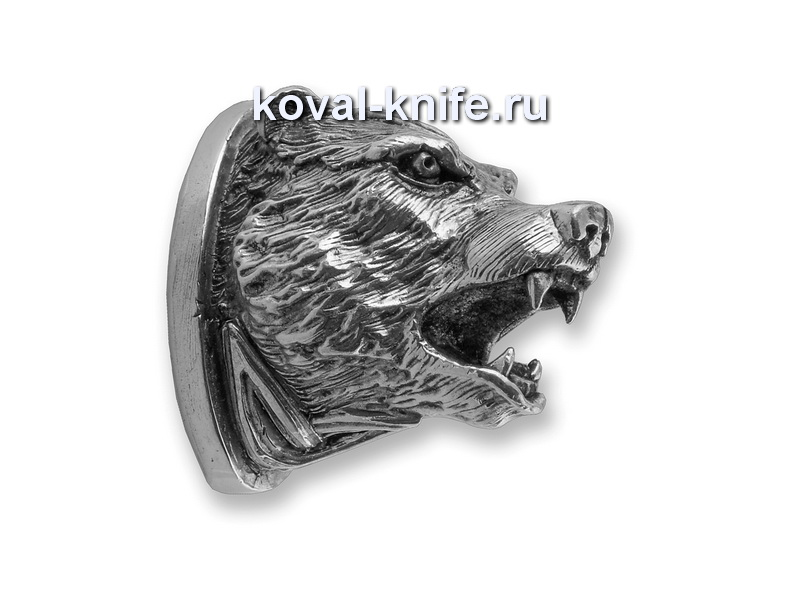 Литье для ножа 153 Голова МЕДВЕДЯ  Высота примыкания со стороны рукояти 33мм