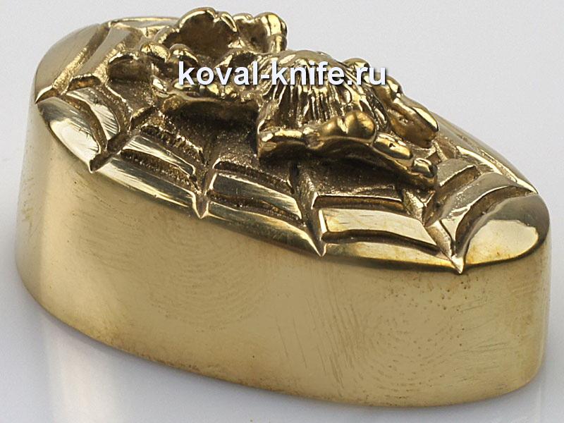 Литье для ножа 240 пятка Паук. Высота примыкания со стороны рукояти 37,5 мм.