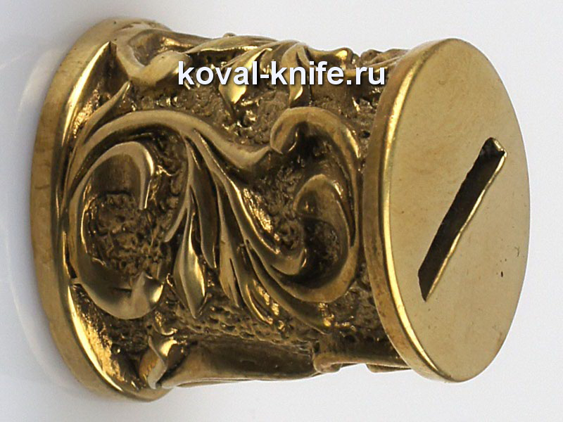 Литье для ножа 662 притин для шампура круглый.Диаметр со стороны рукояти 18 мм