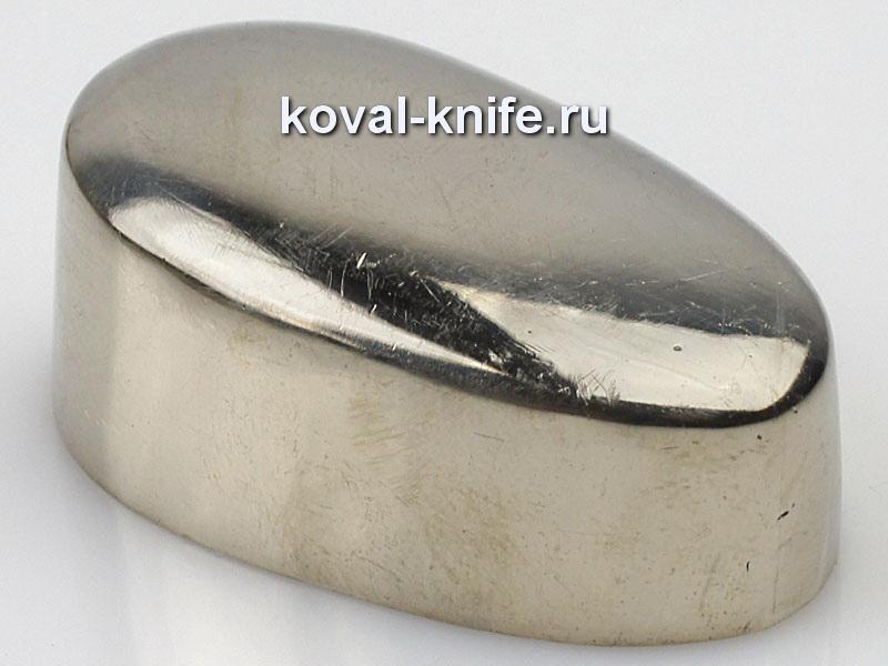 Литье для ножа 287 пятка гладкая.Высота примыкания со стороны рукояти 40мм