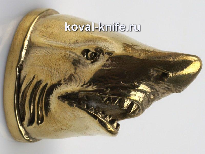 Литье для ножа 101 Голова — АКУЛА Высота примыкания со стороны рукояти 33,5мм