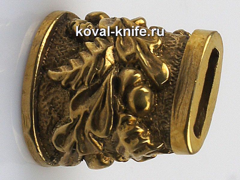 Литье для ножа 661 притин для шампура овальный.Высота овала со стороны рукояти 16мм