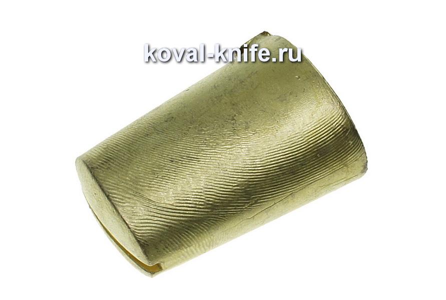 Литье для ножа 673 Оковка для финки литая.Высота овала со стороны рукояти 26,5 мм