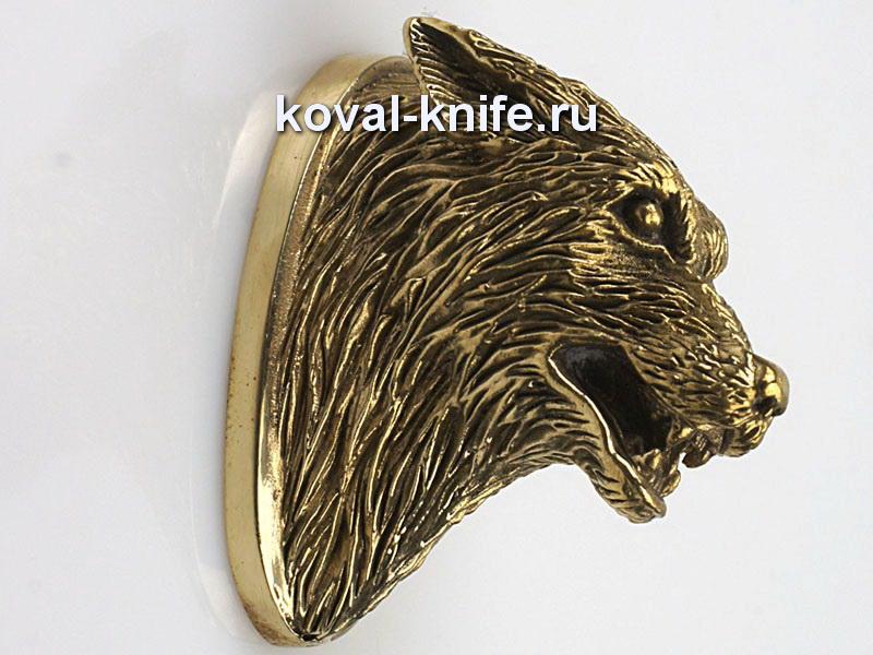 Литье для ножа 122 Волк злой Высота примыкания со стороны рукояти 38,5мм