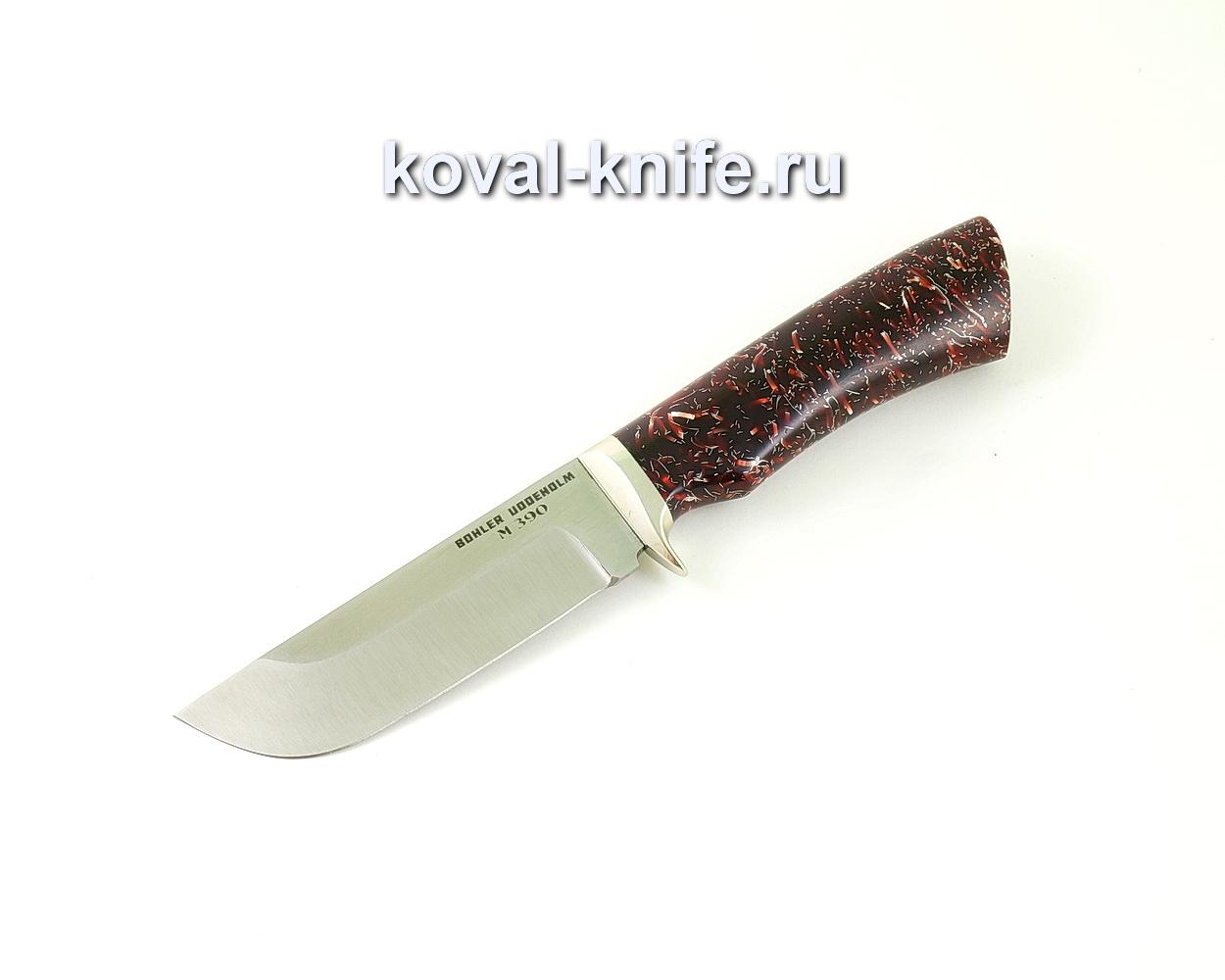Нож из порошковой стали М390 Пегас (рукоять композит, гарда мельхиор) A507