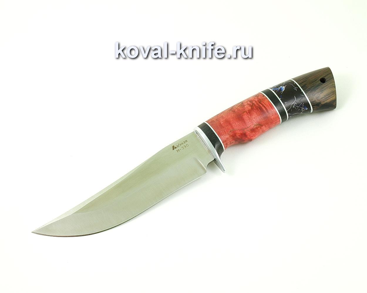 Нож из порошковой стали М390 Клыч (рукоять стабилизированная карельская береза, венге и композит) A508