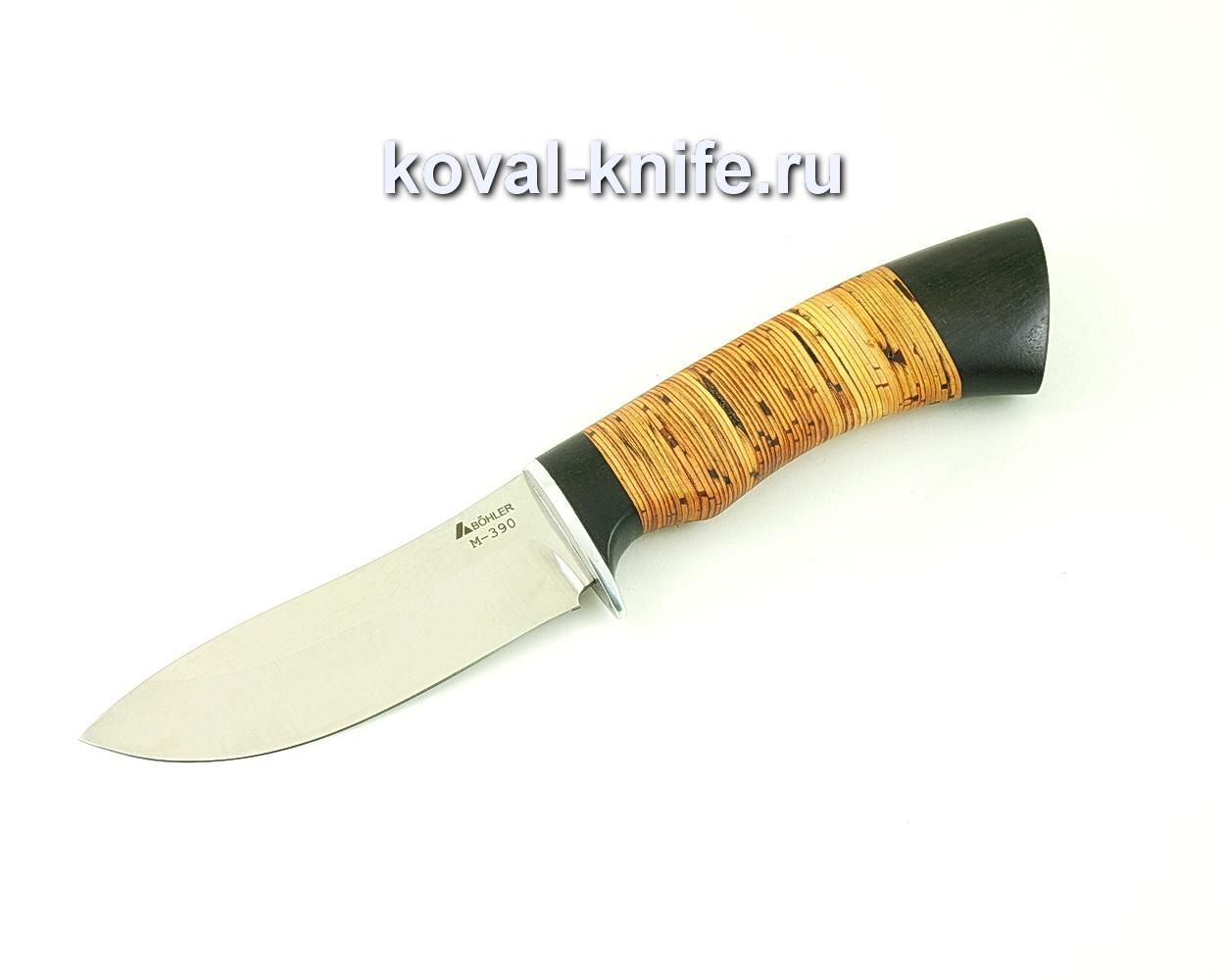 Нож из порошковой стали М390 Кабан (рукоять береста и граб) A509