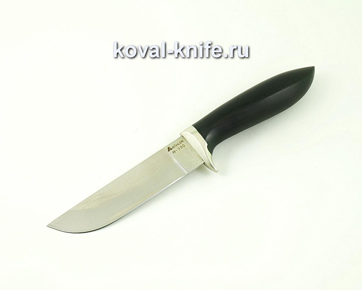 Нож из порошковой стали М390 Белка (рукоять граб, гарда мельхиор) A513