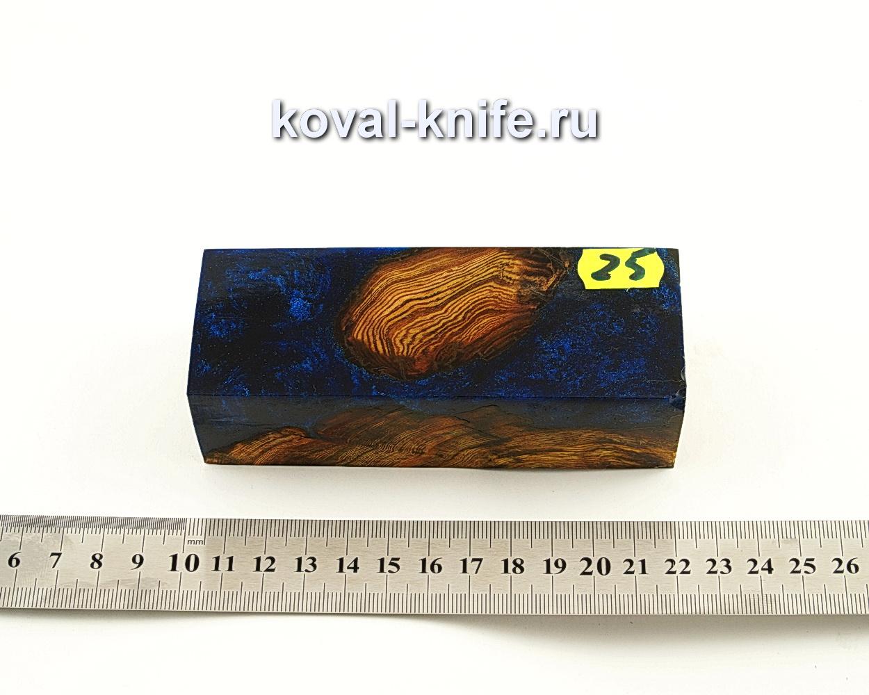 Брусок стабилизированной древесины для ножа N25
