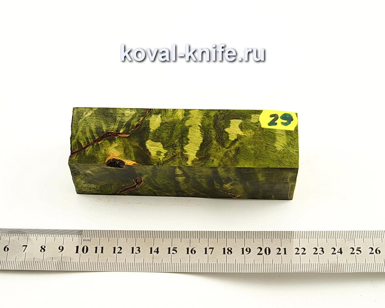 Брусок стабилизированной древесины для ножа N29