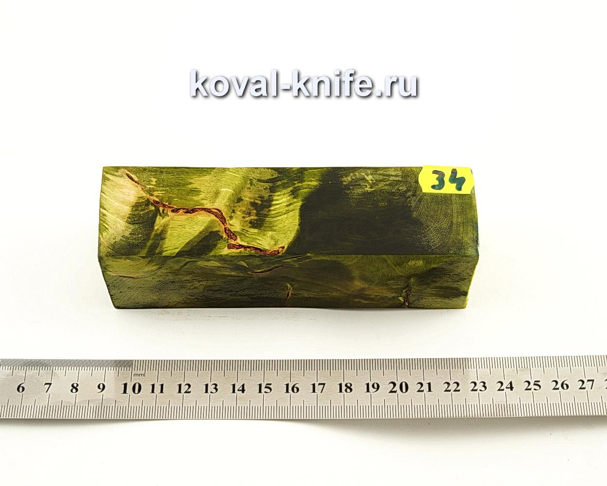 Брусок стабилизированной древесины для ножа N34