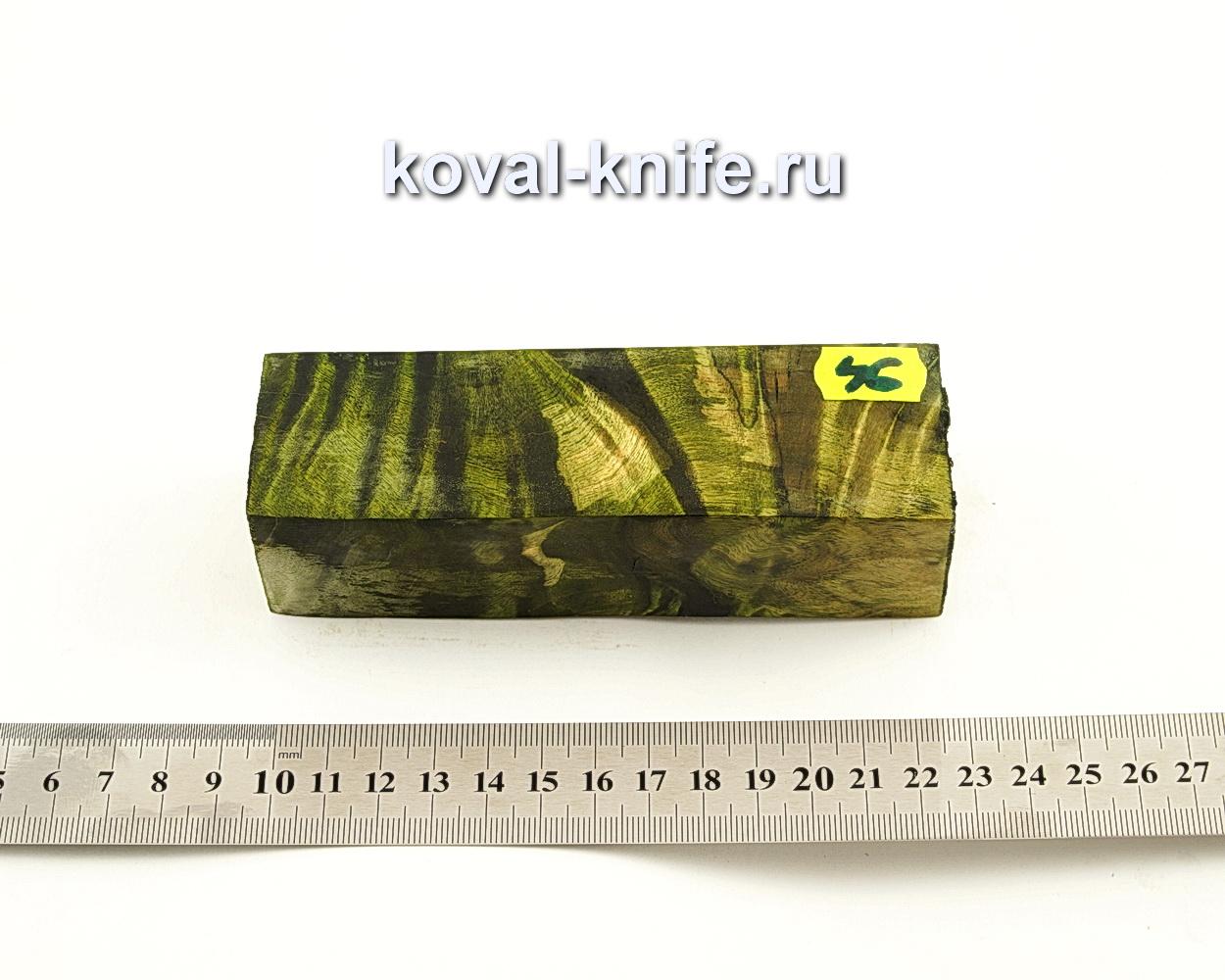Брусок стабилизированной древесины для ножа N46