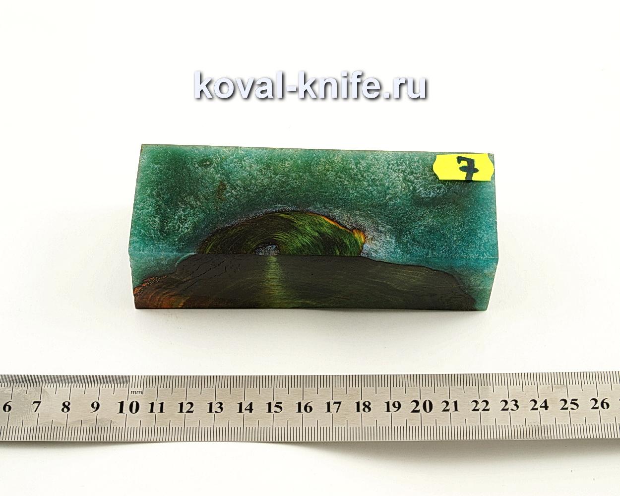 Брусок стабилизированной древесины для ножа N7